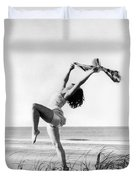 A Woman Dancing On The Shore Duvet Cover