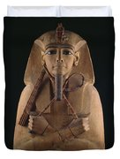 A Wooden Coffin Case Of The Pharaoh Duvet Cover