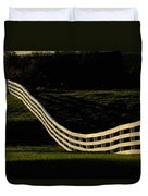 A Wooden Fence At The Shaker Village Duvet Cover