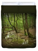 A Woodland Stream In Cades Cove No.472 Duvet Cover