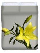 A Yellow Lily Lilium Canadense Duvet Cover
