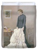 A Young Widow Duvet Cover