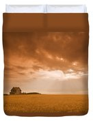 Abandoned Farm In Durum Wheat Field Duvet Cover