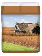 Abandoned Farmhouse In Field 4 Duvet Cover