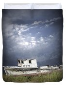 Abandoned Fishing Boat In Washington State Duvet Cover