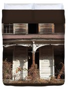 Abandoned House Facade Rusty Porch Roof Duvet Cover