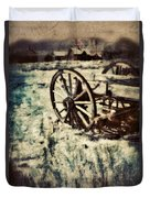 Abandoned Wagon By Old Ghost Town. Duvet Cover