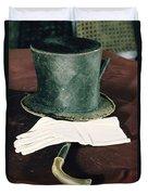 Aberaham Lincolns Hat, Cane And Gloves Duvet Cover