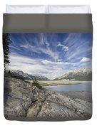 Abraham Lake Created By Bighorn Dam Duvet Cover