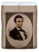 Abraham Lincoln, 16th American President Duvet Cover