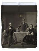 Abraham Lincoln And Family Duvet Cover