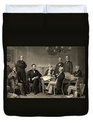 Abraham Lincoln At The First Reading Of The Emancipation Proclamation - July 22 1862 Duvet Cover