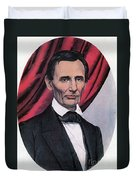 Abraham Lincoln, Republican Candidate Duvet Cover