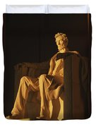 Abraham Lincoln Statue In Lincoln Duvet Cover