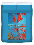 Abstrac Texture Of The Paint Peeling Iron Drum Duvet Cover
