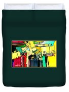 Abstract 733 Duvet Cover