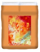 Abstract Art Colorful Bright Pastels Original Painting Spring Is Here I By Madart Duvet Cover