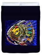 Abstract Busy Bee Fish Duvet Cover