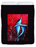 Abstract Calla Lilly Textured Painting Greeting Lillies By Madart Duvet Cover by Megan Duncanson