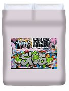 Abstract Colorful Graffiti Duvet Cover