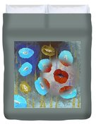 Abstract Colorful Poppies Duvet Cover