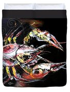 Abstract Crawfish Duvet Cover