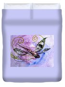 Abstract Dragonfly 6 Duvet Cover