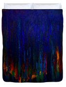 Abstract Evergreens Duvet Cover