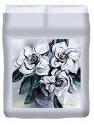 Abstract Gardenias Duvet Cover