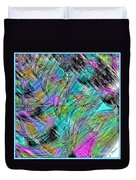 Abstract In Chalk Duvet Cover