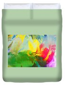 Abstract In Full Bloom Duvet Cover