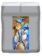 Abstract Martini Tropical Contemporary Original Painting Martini On The Beach By Madart Duvet Cover