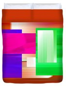 Abstract Number Three Duvet Cover