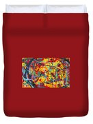 Abstract Pizza 1 Duvet Cover