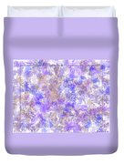 Abstract Purple Splatters Duvet Cover