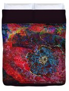 Abstract Red Poppy Duvet Cover