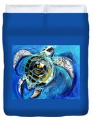 Abstract Sea Turtle In C Minor Duvet Cover