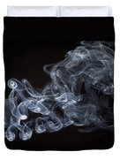 Abstract Smoke Running Horse Duvet Cover