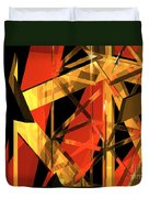 Abstract Tan 2 Duvet Cover