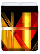 Abstract Tan 7 Duvet Cover