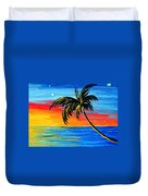 Abstract Tropical Palm Tree Painting Tropical Goodbye By Madart Duvet Cover