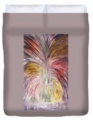 Abstract Vase And Energy Mouvement Duvet Cover