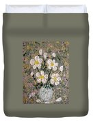 Abstract Wild Roses Heavy Impasto Duvet Cover