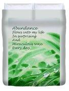 Abundance Affirmation Duvet Cover