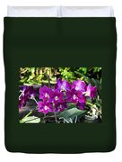 Accented Purple Orchid  Duvet Cover