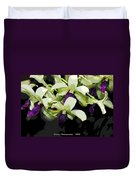 Accented Purple Poster Orchid Fx  Duvet Cover