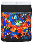 Acrylic Abstract Upon Wood Duvet Cover