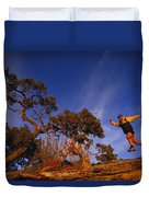 Adam Lederer Trail-runs Near Dolores Duvet Cover