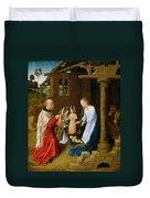 Adoration Of The Christ Child  Duvet Cover