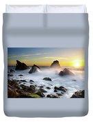 Adraga Beach Duvet Cover by Carlos Caetano